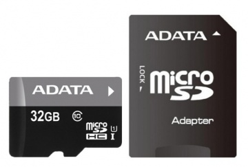 Карта памяти Micro Secure Digital HC/10 32Gb A-DATA Premier