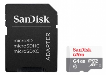 Карта памяти Micro Secure Digital XC/10 64Gb Sandisk Ultra 80