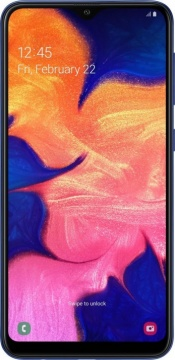 Смартфон Samsung Galaxy A10 2/32Gb Синий