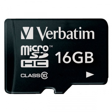 Карта памяти Micro Secure Digital HC/10 16Gb Verbatim
