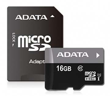 Карта памяти Micro Secure Digital HC/10 16Gb A-DATA Premier
