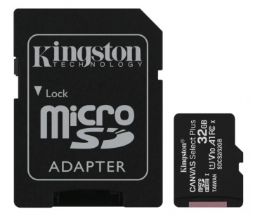 Карта памяти Micro Secure Digital HC/10 32Gb Kingston Canvas Select Plus