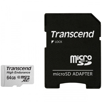 Карта памяти Micro Secure Digital XC/10  64Gb Transcend High Endurance