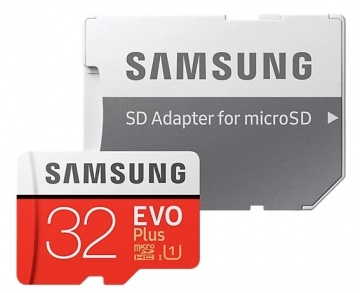 Карта памяти Micro Secure Digital HC/10 32Gb Samsung Evo Plus