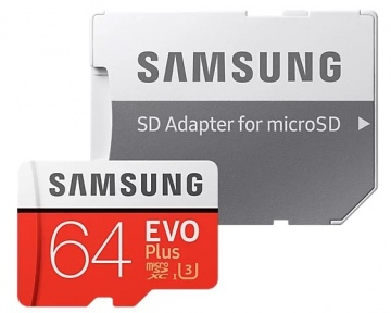 Карта памяти Micro Secure Digital XC/10 64Gb Samsung EVO Plus v2