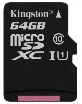 Карта памяти Micro Secure Digital XC/10 64Gb Kingston Canvas Select