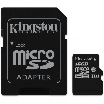 Карта памяти Micro Secure Digital HC/10 16Gb Kingston