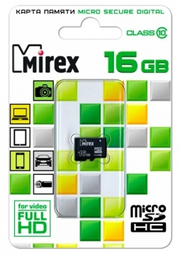 Карта памяти Micro Secure Digital HC/10 16Gb Mirex